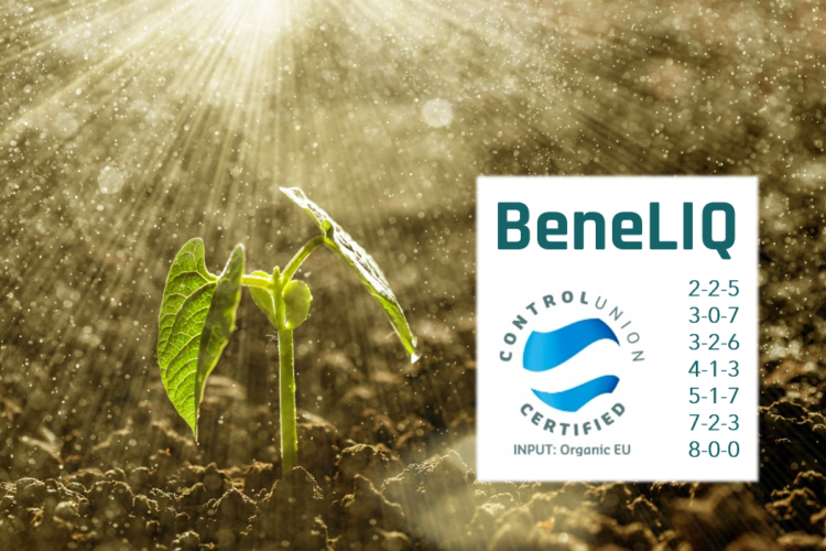BeneLIQ liquid fertilizers are Control Union certified